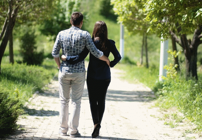 Walking with the girlfriend