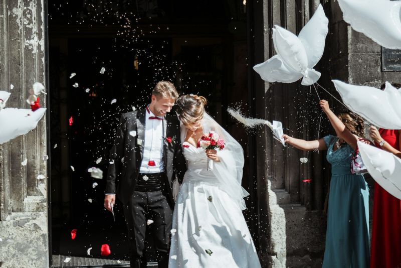 The happiest moment of every Russian bride